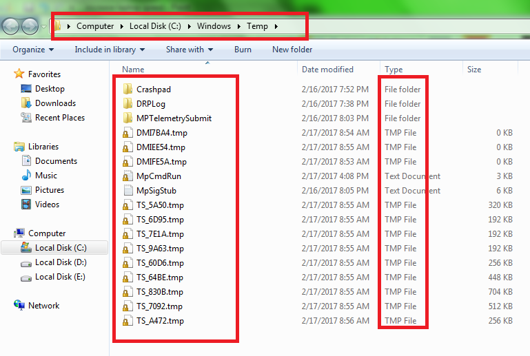 fast laptop speed delete temp file 4